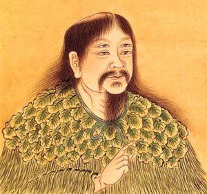 Mówi się, żeCangjie miał czworo oczu zdolnych dojrzeć sedno nawet największych tajemnic, bydoszukać się prawdy (Autor nieznany – http://classes.bnf.fr/dossiecr/my-chine.htm / domena publiczna, https://commons.wikimedia.org/w/index.php?curid=4297844)