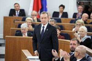 Senator PO-KO Tomasz Grodzki został wybrany namarszałka Senatu podczas inauguracyjnego posiedzenia izby X kadencji, Warszawa, 12.11.2019 r. (Tomasz Gzell / PAP)